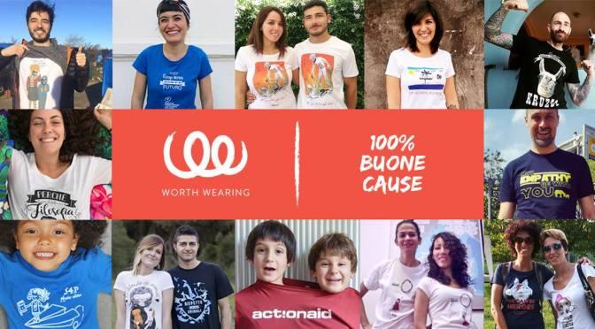 100% buone cause con le t-shirt di Worth Wearing