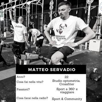 Volto della redazione - Servadio Matteo